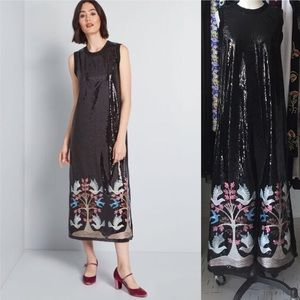 Anna Sui Life in Sequins Midi Dress